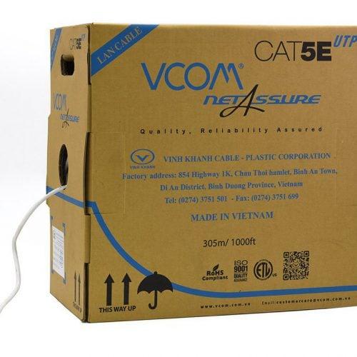 Cáp Mạng Vcom Cat 5E UTP (Thùng 305m)